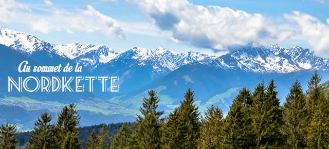 Au sommet de la Nordkette à Innsbruck