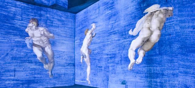 Les géants de la Renaissance aux Carrières en Lumières des Baux-de-Provence