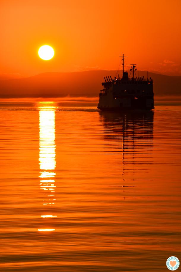 Coucher de soleil sur Rivière-du-Loup