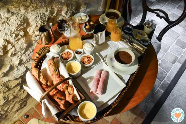 Petit-déjeuner de l'Aubergade de Puymirol