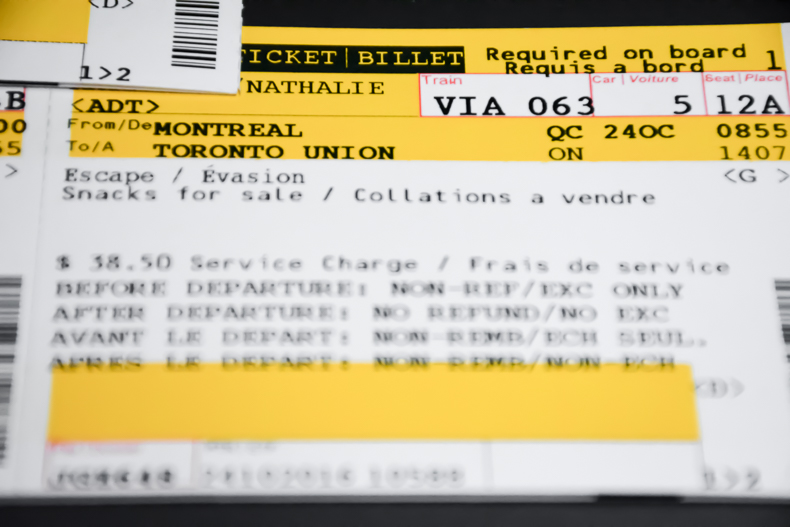 Train Montreal Toronto