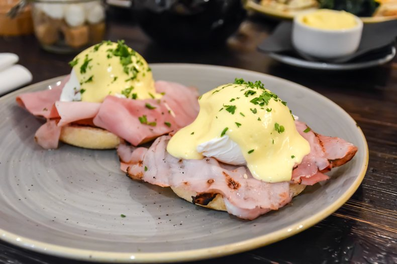 The Ampersand Hotel Eggs Benedict