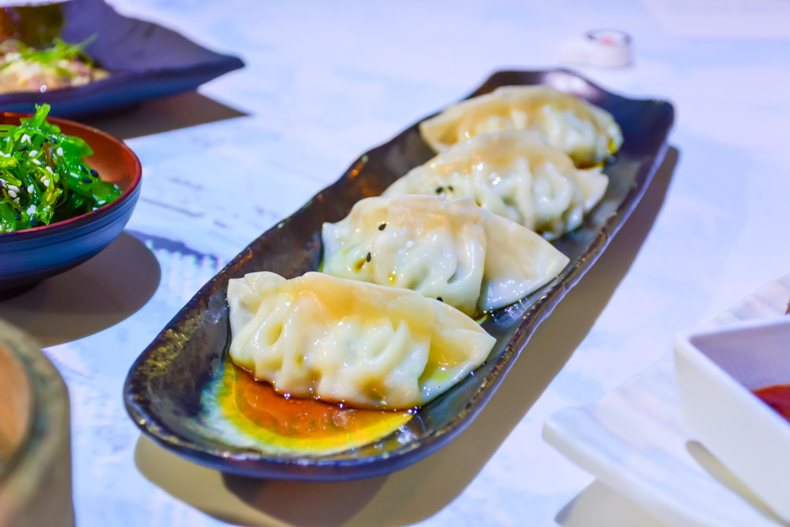 Chicken & Vegetable Gyoza inamo Camden