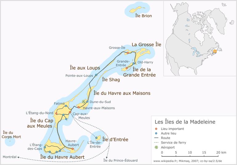 Carte Îles de la Madeleine