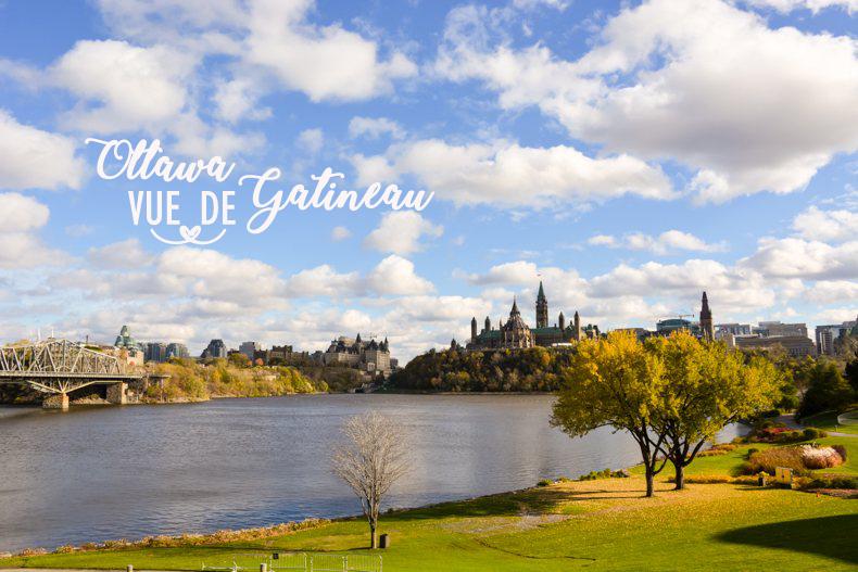 Ottawa vue de Gatineau