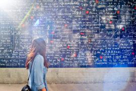 Paris insolite Mur des Je t'aime